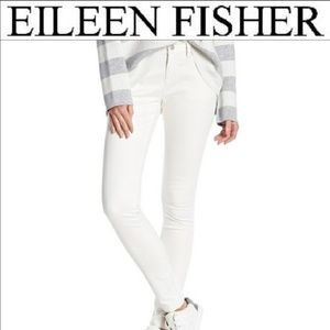 Eileen Fisher white skinny ankle jeans size 6